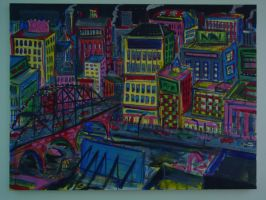 Bridge to the city (sold) by EBrummer