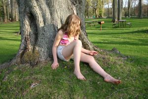 female by tree 2 by frchblndy-stock