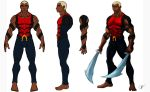 Aqualad Orthographic Drawing by joeybowsergraphics