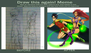 Starfire and Robin Before and After by Dirkajek144