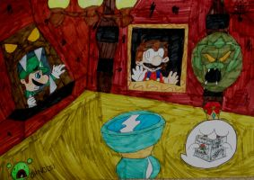 Luigis Mansion - The painting by paratroopaCx