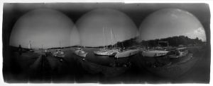 Primorsko Harbour Fisheye by Veniamin