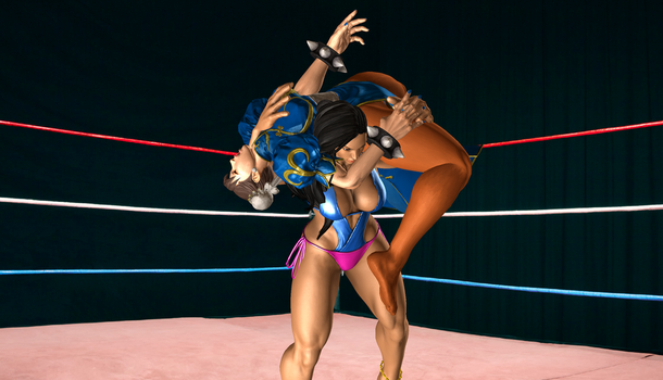 Laura Breaks Chun-Li by NoelyPoly