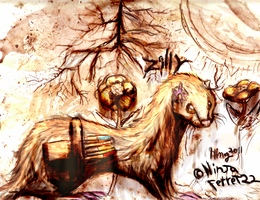 Gold Ferret by NinjaFerret22