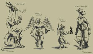 Sketch Dump - Character design by davi-escorsin