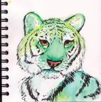 Green Tiger Sketch by user-name-not-found