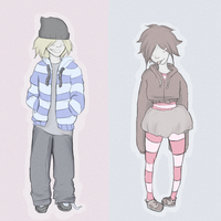 boys and girls and stripes by MoMoCookie