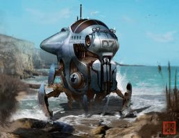 Explorer Submarine Mech by kineticflow