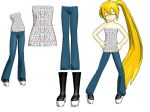 MMD-Female outfit DL by Shioku-990