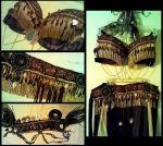Purple and Gold Tribal Belly Dance Costume by kungfubellydancer