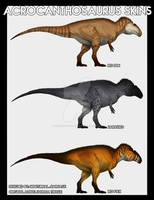 The Isle Skin Concepts - Acrocanthosaurus - Part 1 by NocturnalCarnage