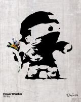 Banksy's Flowerchucker by eggay