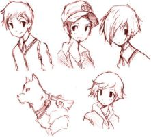 Persona 3 Guy Sketches by shuiro