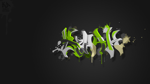 3D Splash Graffiti Shak by Shak-Designs by Shak-Designs