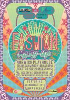 Norwich Fashion Week - 'Fashion Mash Up' Poster by RicGrayDesign