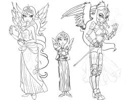 My Little Pony Girls 3 WIP by gambitgurlisis