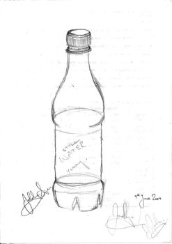 Water Bottle in 3D by PinkCarrots