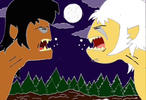 INSANITY WEREWOLF VS COURAGE WEREWOLF by Scottmister