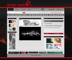 Design' music webdesign by fodkito