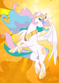 Princess Celestia by K-Bo. by kevinbolk