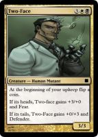 Two-Face Magic Card by WoodenOx