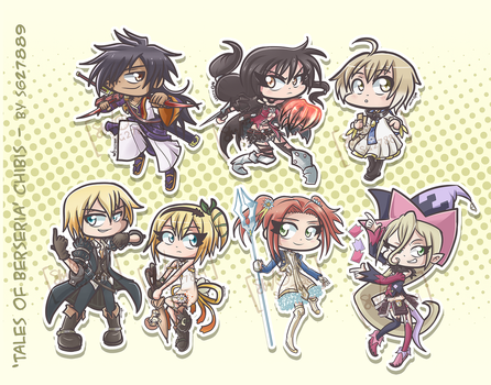 Tales of Berseria Chibis!! by SG27889