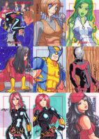 Marvel Greatest Heroes sketch cards 1 by JoeOiii