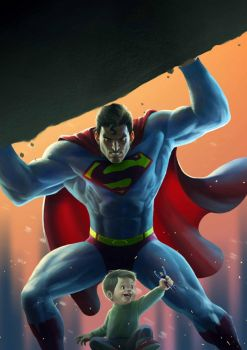 Superman 2015 painting by iNDOSstudio