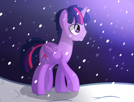Trot through the snow by Left2Fail
