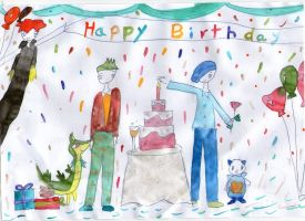 Striaton Birthday Wishes by AbstractWater