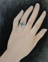FINT103 Oil Painting 6: The Artist's Hand by BrielleCoppola