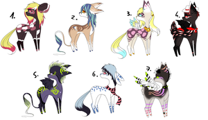 CLOSED - Fantasy Deers Adoptables 354 by LeaAdoptables