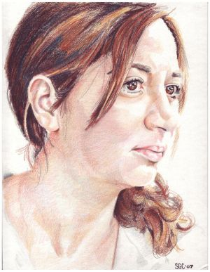 Colored pencil portrait of Deniz Kofteci