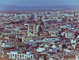 Saint Stephen's Basilica in the city by 5haman0id