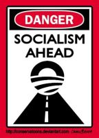 Danger Socialism Ahead by Conservatoons