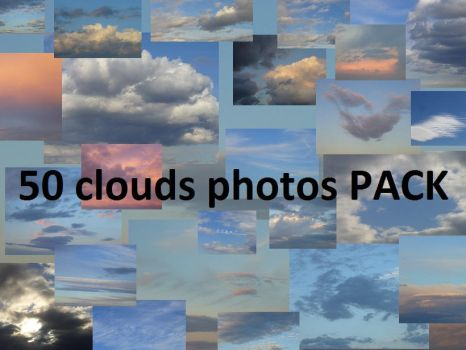 50 Clouds photos PACK by allecca