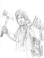 Daryl the Walking Dead by Graymalkin2112
