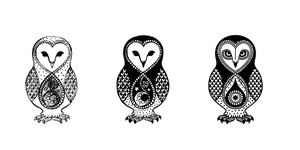 Owl Tattoo Design by nya-nannu