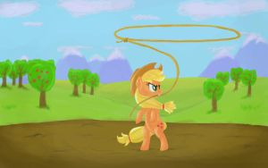 Applejack and her rope by Ardail