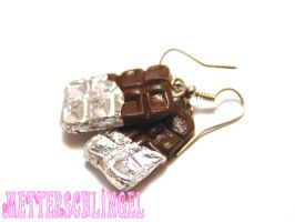 Chocolate Bar Earrings by Metterschlingel