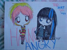 Hangry and Angry chibi's by kawaii-beam