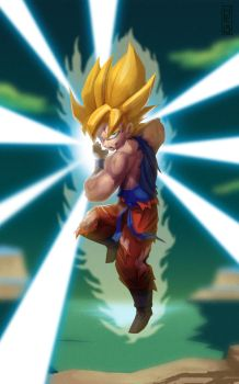 SSJ Goku week 1 by mitchellellis