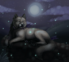 Blue Moon - Commission by pandapoots