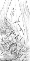 Ornithomimid by Ashere