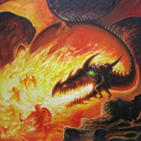 The Dragons Battle (new picture) by Wideen