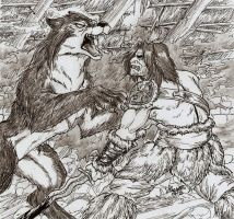 The Barbarian and the Werewolf by Shabazik