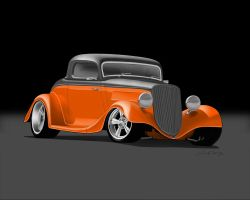 Ford Hot Rod Toon by LindStyling