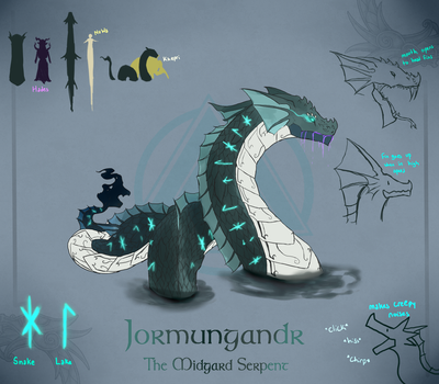 Smite - Jormungandr Design Notes by Kaiology