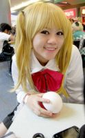 Misa Misa with a pokeball! by Lawrielle21