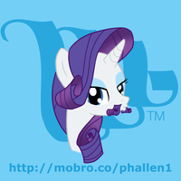 MoBrony project: Rarity by phallen1